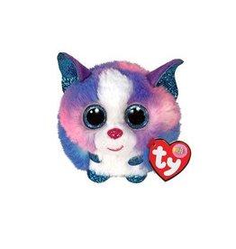 Ty Ty Teeny Puffies Cleo de Blauw/Roze/Witte Husky 10cm