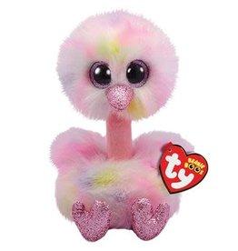 Ty Ty Beanie Boo's Avery de Pastelkleurige Struisvogel 15cm