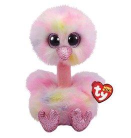 Ty Ty Beanie Buddy Avery  de Pastelkleurige Struisvogel 24cm