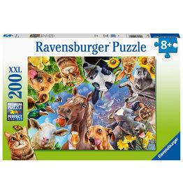 Ravensburger Ravensburger Puzzel 129027 Vrolijke Boerderijdieren (200 XXL Stukjes)