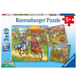 Ravensburger Ravensburger Puzzel 051502 Riddertoernooi in de Middeleeuwen (3x49 Stukjes)