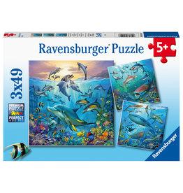 Ravensburger Ravensburger Puzzel 051496 Dieren in de Oceaan (3x49 Stukjes)