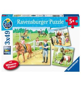 Ravensburger Ravensburger Puzzel 051298 Een Dag op de Manege (3x49 Stukjes)
