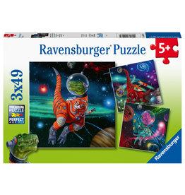 Ravensburger Ravensburger Puzzel 051274 Dinosauriërs in de Ruimte (3x49 Stukjes)