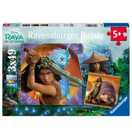 Ravensburger Ravensburger Puzzel 050987 Raya, de Dappere Krijger (3x49 Stukjes)