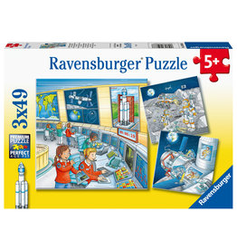 Ravensburger Ravensburger Puzzel 050888 Op Ruimtevaartmissie met Tom en Mia (3x49 Stukjes)