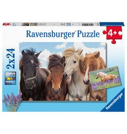 Ravensburger Ravensburger Puzzel 051489 Paardenliefde  (2x24 Stukjes)