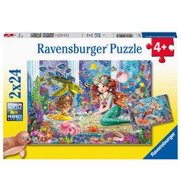 Ravensburger Ravensburger Puzzel 051472 Betoverende Zeemeerminnen (2x24 Stukjes)