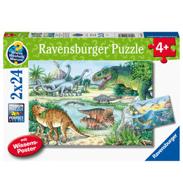 Ravensburger Ravensburger Puzzel 051281 Sauriërs en hun Leefruimte  (2x24 Stukjes)
