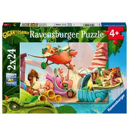 Ravensburger Ravensburger Puzzel 051267 Rocky, Bill, Mazu et Tiny (2x24 Stukjes)