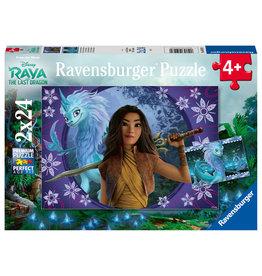 Ravensburger Ravensburger Puzzel 050970 Disney Raya Sisu, de Laatste Draak (2x24 Stukjes)