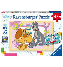 Ravensburger Ravensburger Puzzel 050871 Disney De Schattigste Disney Puppies (2x24 Stukjes)