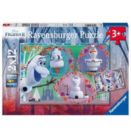 Ravensburger Ravensburger Puzzel 051533 Disney Frozen Iedereen Houdt van Olaf (2x12 Stukjes)