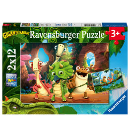 Ravensburger Ravensburger Puzzel 051250 De kleine Dinobende  (2x12 Stukjes)