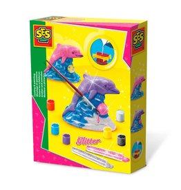 SES Creative SES Creative Gieten en Schilderen - Glitter Dolfijn