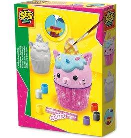 SES Creative SES Creative Gips Gieten en Schilderen Cupcake Kat