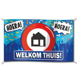 Gevelvlag XXL - Welkom Thuis  (150 x90 cm)