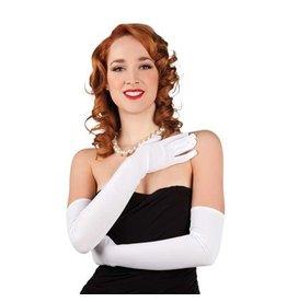 Handschoenen wit (60cm)