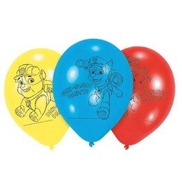 Ballonnen 23cm Paw Patrol (6 stuks)