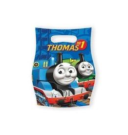 Uitdeelzakjes Thomas de trein (6 stuks)