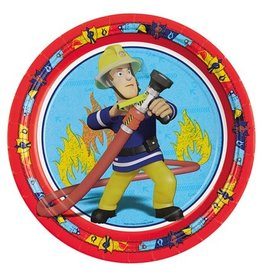 Bordjes Brandweerman Sam (Ø23cm, 8st)
