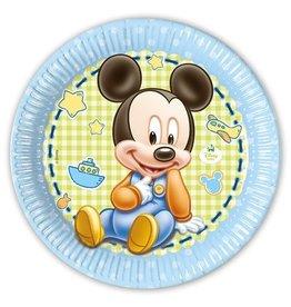 Bordjes Baby Mickey (Ø23cm, 8st)