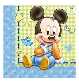 Servetten Baby Mickey (33x33cm, 20st.)