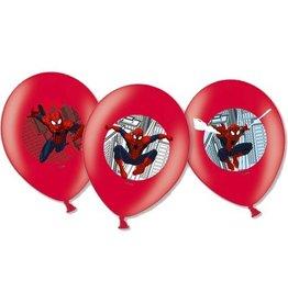 Ballonnen Spiderman (28cm, 6 stuks)