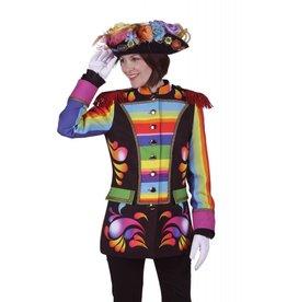 Damescolbert ''rainbow'', Mix van kleuren, Colbert gevoerd