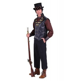 Vest heer steampunk ''Cyrus'', Zwart