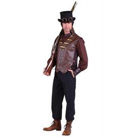 Vest heer steampunk ''Cyrus'', Bruin