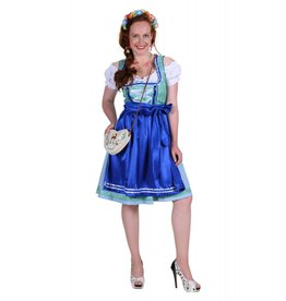Dirndl jurk ''Lisa'', Blauw-Rood