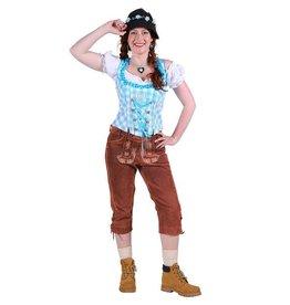Tiroler damenhose 3/4 lang ''inga'', Middelbruin