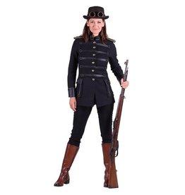 Jas steampunk dame ''Araminta'', Zwart