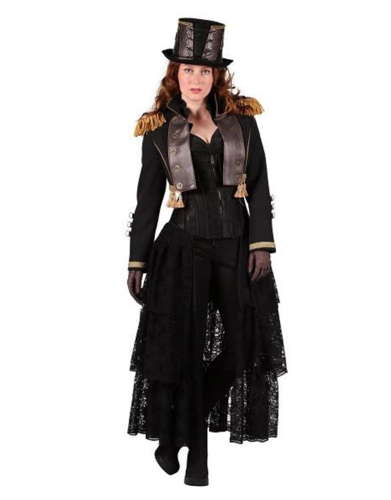 Zomerjas Dames Kort.Steampunk Jas Dame Kort Zwart Carnaval De Verkleedzolder