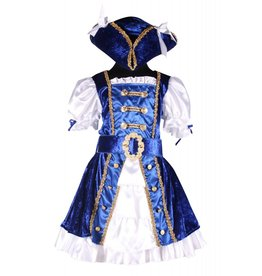 Piraat meisje blauw, Blauw