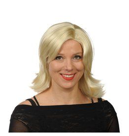 Pruik Julia blond