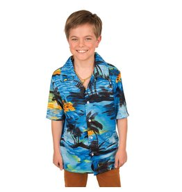 Hemd Hawai Blauw