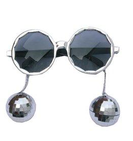 Bril Disco Balls Zilver