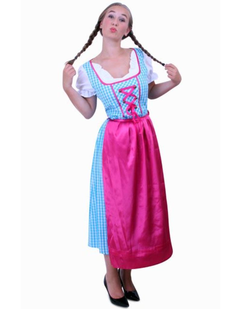 f543d3b824e6d8 Tiroler jurk lang Anna blauw wit ruitje