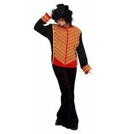 Michael jackson jas zwart/rood met gouden bies