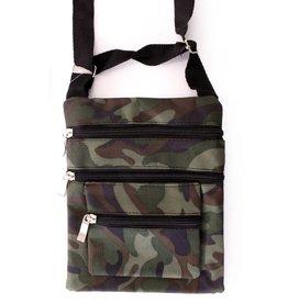 Schoudertas / bag camouflage print 3 ritsen