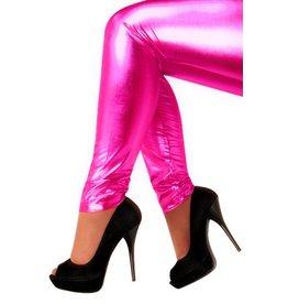 Legging metallic pink
