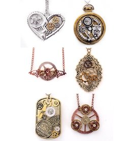 Ketting steampunk 6 assorti