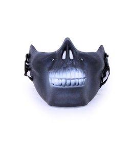 Halfmasker onderkaak skull zwart