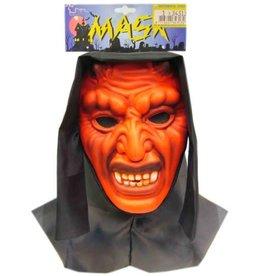 Vinyl masker duivel + doek (Halloween)
