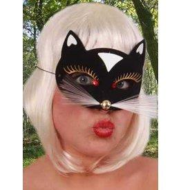 Oogmasker Kat Luxe Zwart Klein