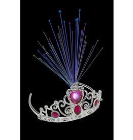 Tiara met lichtgevende vezels en roze juwelen