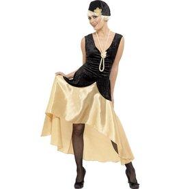 20's Gatsby Dames Kostuum, Zwart