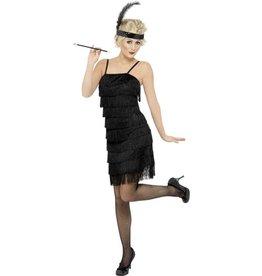 Fringe Flapper Charleston Kostuum, zwart